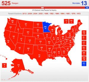 US presidential results 1984 map