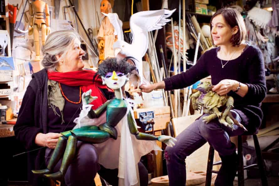 Lyndie Wright with her daughter, Sarah, at the Little Angel workshop in 2011.