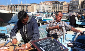 The fish market in full swing.