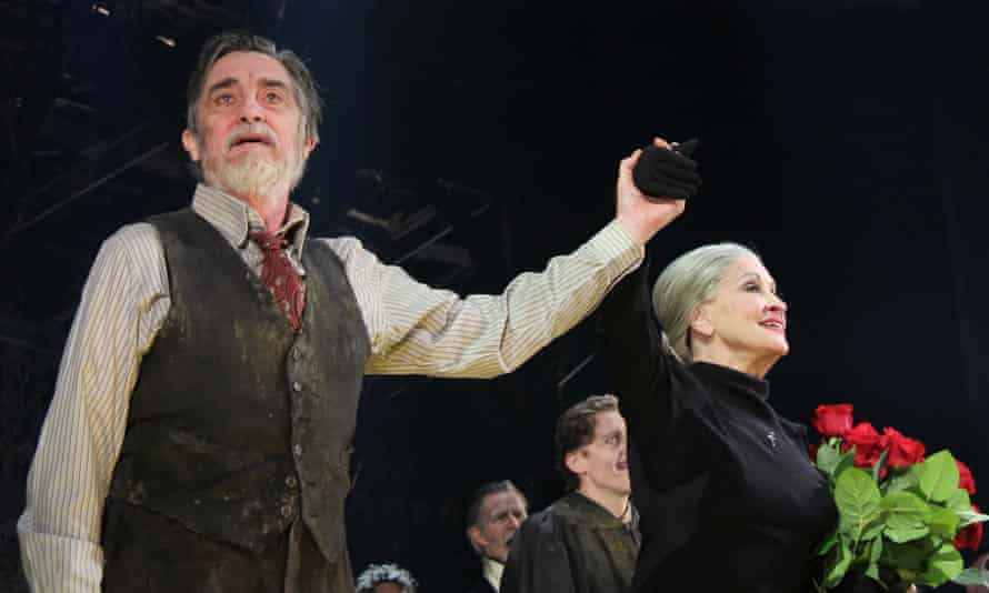 The Visit: Roger Rees and Chita Rivera at the musical's opening night on Broadway.