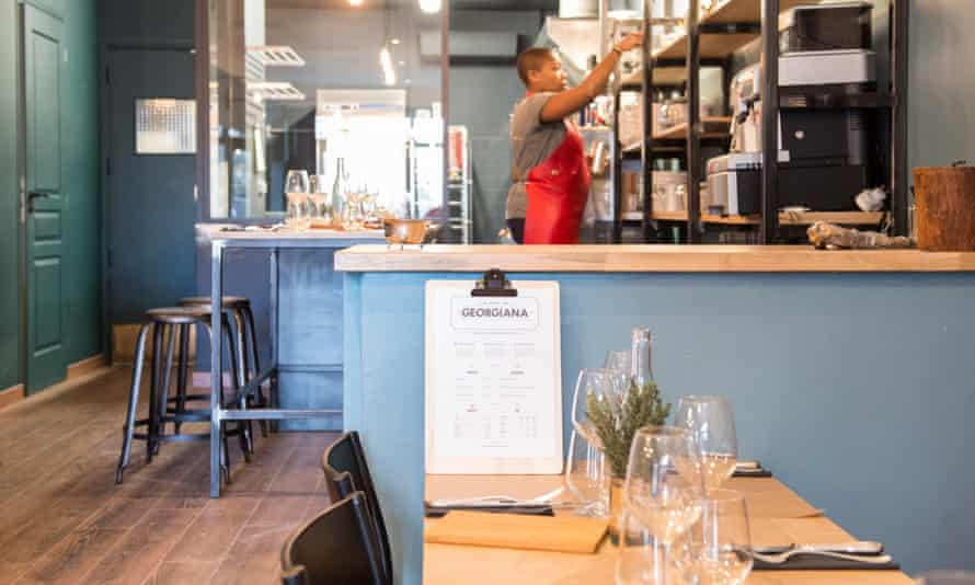 Georgiana Viou in her restaurant