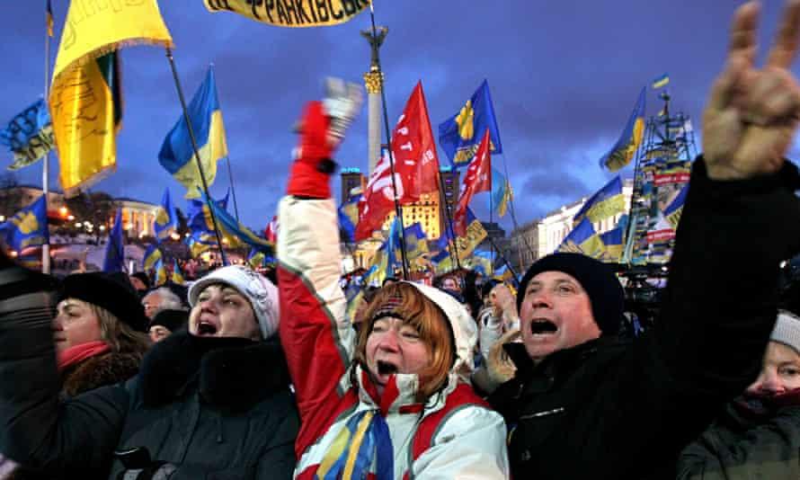 Pro-European protesters in Ukraine, 2013
