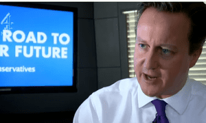 Channel 4 News's coverage included a profile of David Cameron by Gary Gibbon
