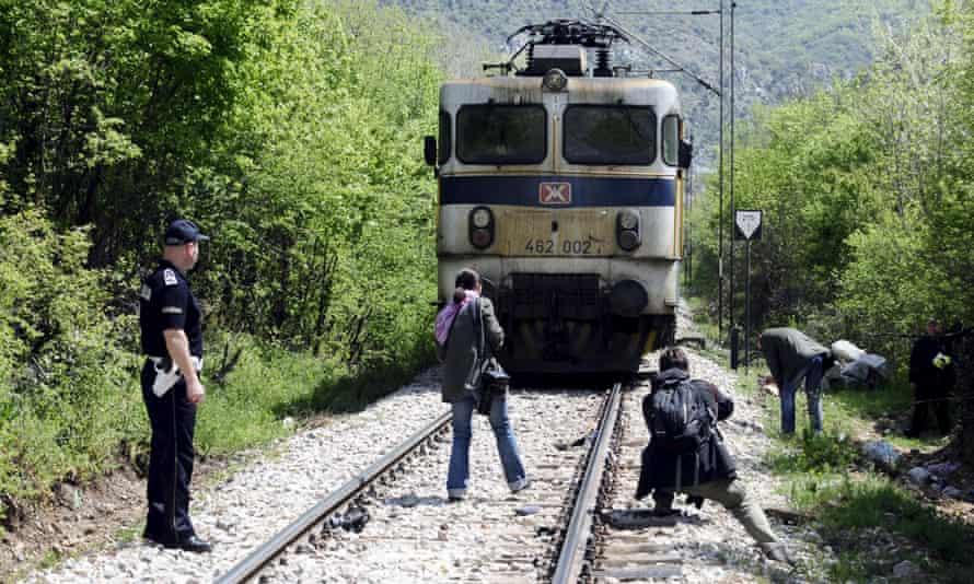 Migrants train crash Macedonia