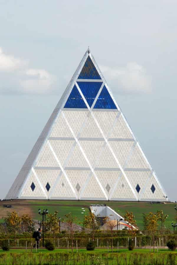 The Pyramid of Peace and Accord in Astana designed by British architect Norman Foster.