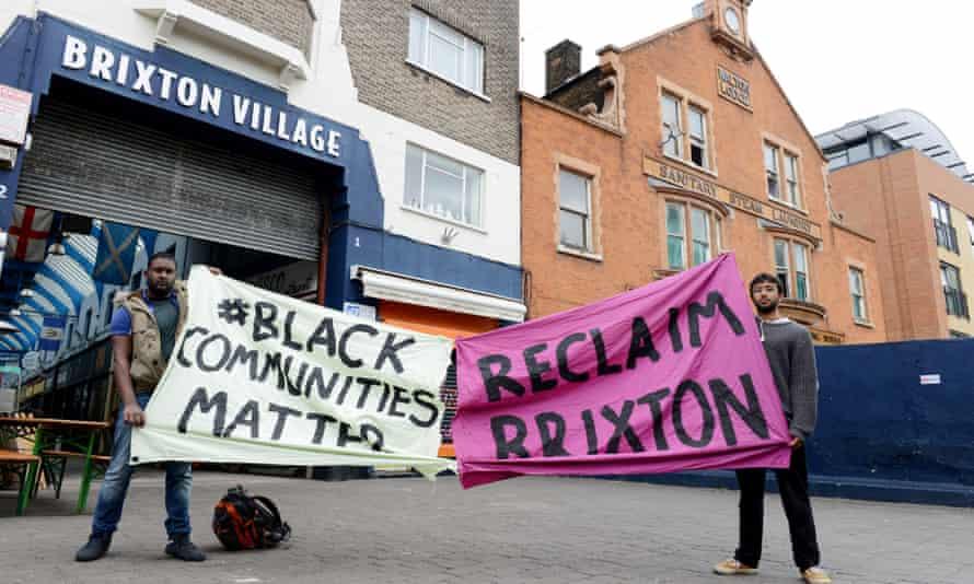 Brixton anti gentrification protest.