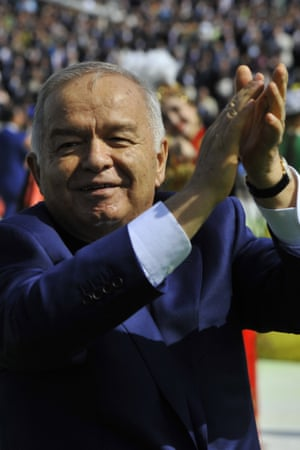 Uzbekistan's president Islam Karimov at Navruz holiday festivities in Tashkent.