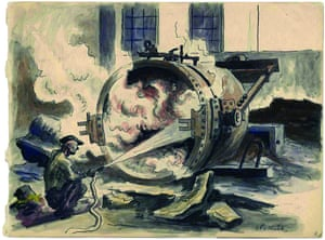 Charles Pollock's ink drawing Steel Mill, Gary, Indiana, 1933.