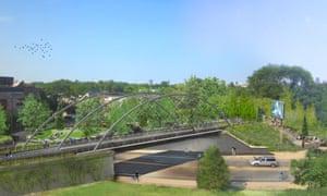 Milwaukee Leavitt, Chicago Bloomingdale Trail renderings