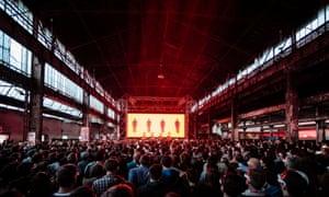 Kraftwerk playing Nuit Sonores Festival last year