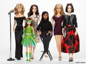 """Trisha Yearwood, Sydney """"Mayhem"""" Keiser, Emmy Rossum, Ava DuVernay, Kristin Chenoweth and Eva Chen Barbie dolls"""