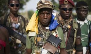 Members of the mainly Christian anti-balaka militia, February 2014.