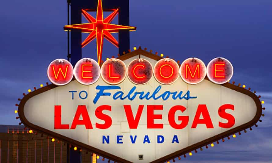 The iconic Las Vegas sign.