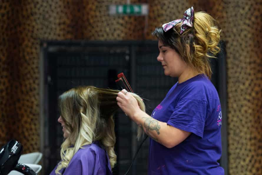 Hairdresser Leanne Smith at the All Made Up beauty salon in Woodchurch.