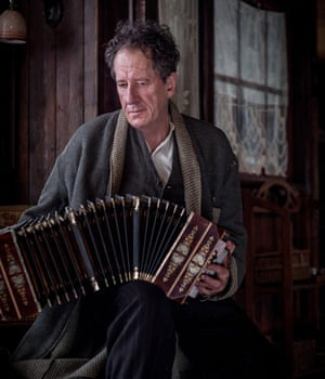 Geoffrey Rush as Hans Hubermann in the film adaptation of The Book Thief