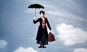 Julie Andrews as Mary Poppins in the film adaptation