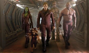 Marvel's hit film Guardians Of The Galaxy, 2014.