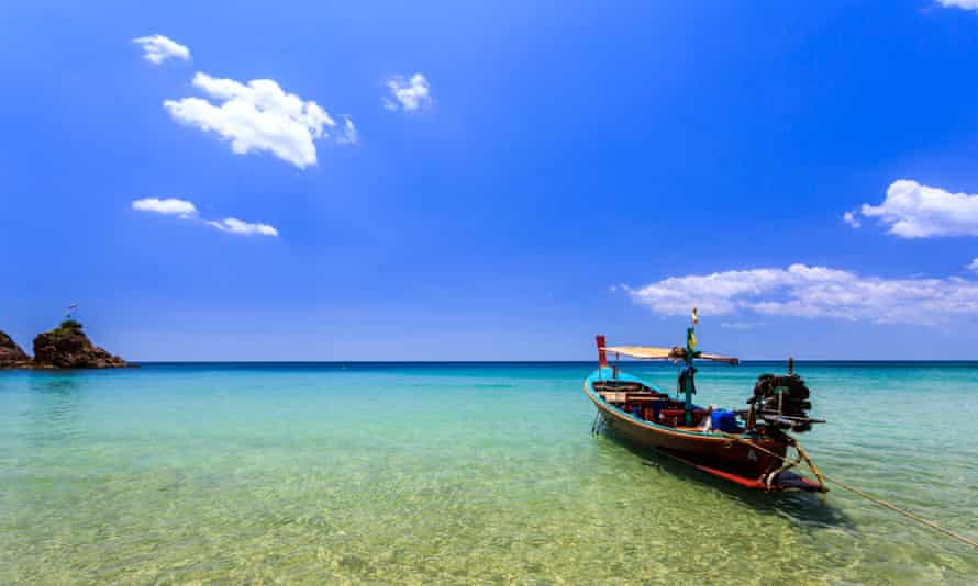Local Traditional boat at Banana Beach, Phuket