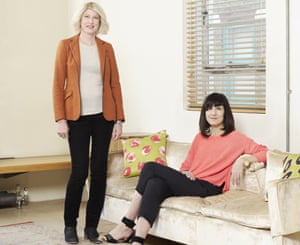 Catherine Mayer with her stepsister Sarah Smith.