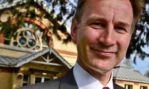 The health secretary, Jeremy Hunt