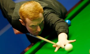 Anthony McGill in action during his second round match in the World Championship in Sheffield.