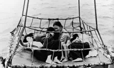 Refugees Hauled Out Of The Sea