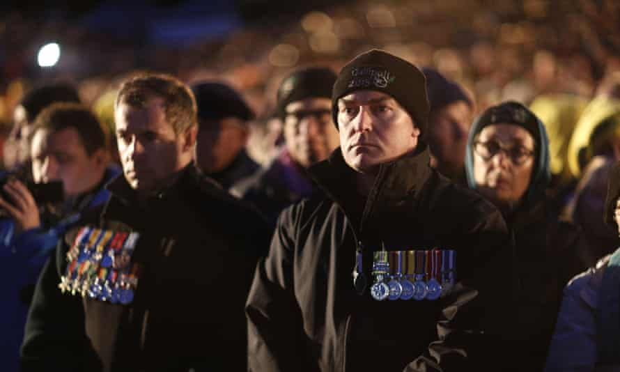 A small section of the crowd at the the Gallipoli dawn service.