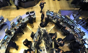 The floor of the New York Stock Exchange on the day of the 'flash crash' , 6 May 2010.