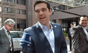Greece's Prime minister Alexis Tsipras in Brussels this month.
