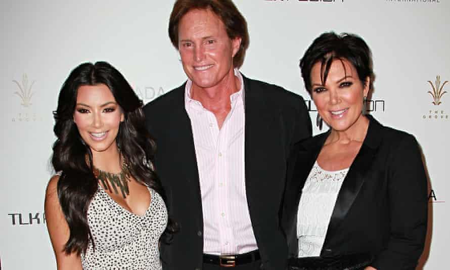 Kim Kardashian, Bruce Jenner and Kris Jenner in 2010.