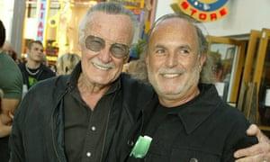 Stan Lee and Avi Arad  at The Hulk film premiere in 2003.