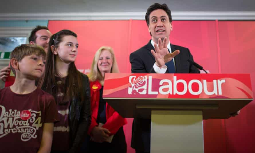 Labour leader Ed Miliband speaking to supporters in Stevenage, Hertfordshire on a campaign visit.