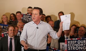 David Cameron campaigning in Somerset