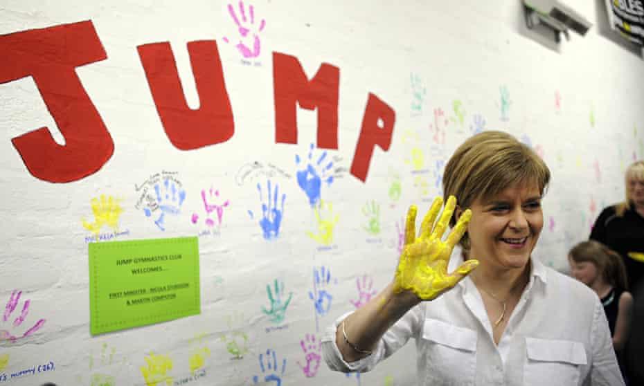 Nicola Sturgeon at the Jump gymnastics club in Cumbernauld