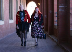 Gothic characters attend the Goth festival in Whitby, North Yorkshire