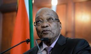 Jacob Zuma hosts an anti-xenophobia press conference in Pretoria, South Africa.