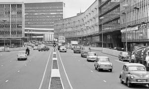 Smallbrook Ringway, part of Birmingham's original, road-dominated Bull Ring shopping centre.