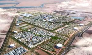 The masterplan for Masdar City, Abu Dhabi.