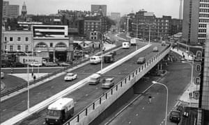 Back to the future? London's Edgware Road flyover at its opening in 1967.