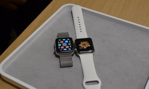 Apple Watches in the Dover Street shop.