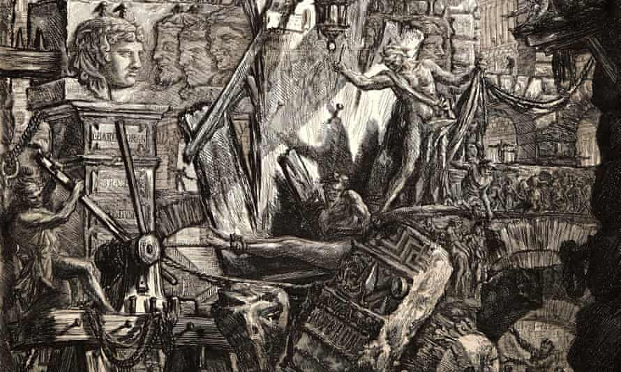 Giovanni Battista Piranesi (Italian 1720-1778). The Man on the Rack, 1761. From Carceri d'Invenzione