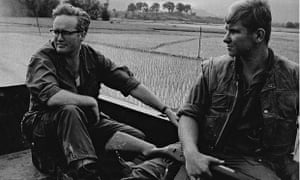 Richard West, left, in Vietnam. He produced some of his finest work reporting on the war and its aftermath
