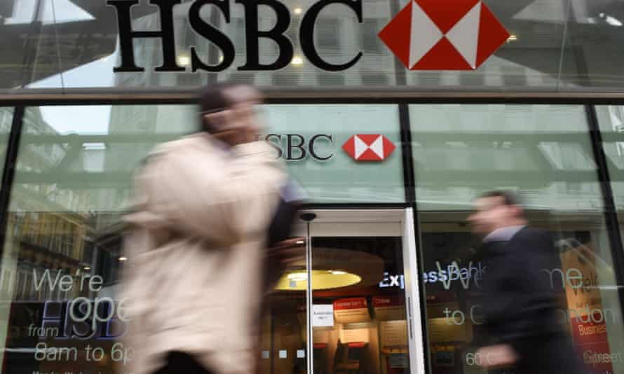 HSBC climbs on spin-off report.