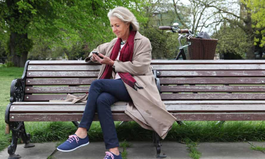 Seat of learning: there's been a huge growth in internet traffic over mobile devices, and older people are increasingly using the technology to access health apps.