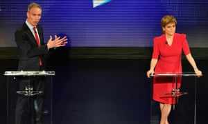 Scottish Labour leader Jim Murphy has accused Nicola Sturgeon's SNP of using the general election to stoke up 'discontent and division'.