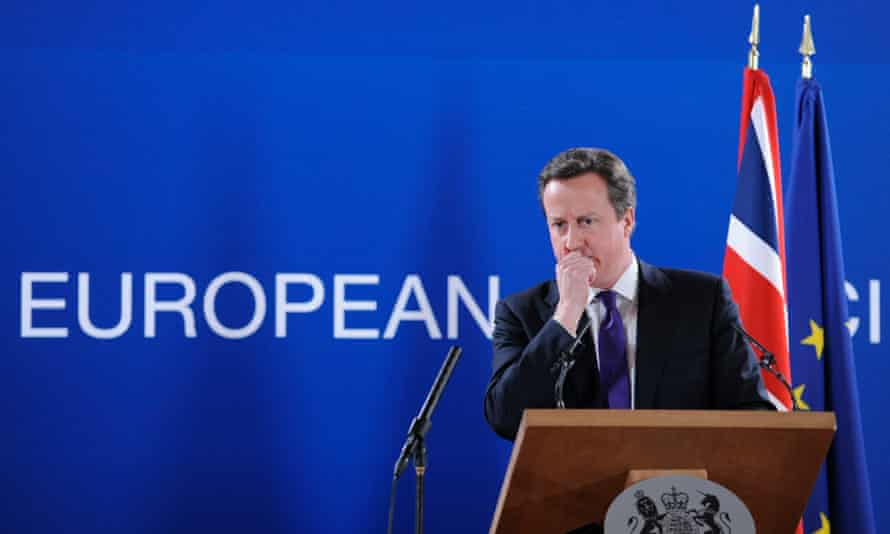 David Cameron in Brussels. The Conservatives have promised a national referendum on EU membership if they win the general election.