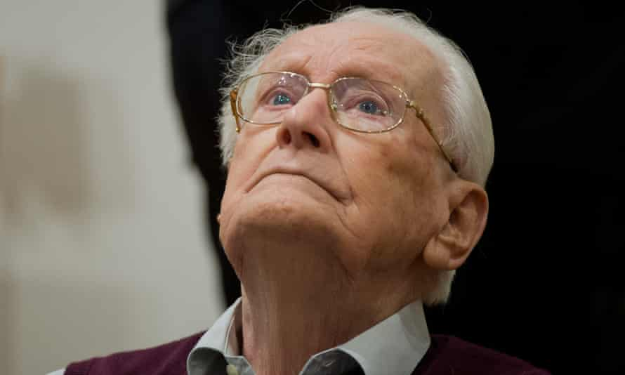 Former SS guard Oskar Groening in court in Lueneburg, northern GermanyThe 93-year-old is accused of helping to operate the death camp Auschwitz in Nazi-occupied Poland between May and June 1944.