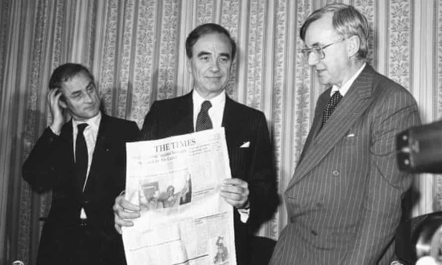 Rupert Murdoch announces his takeover of the Times Group in 1981