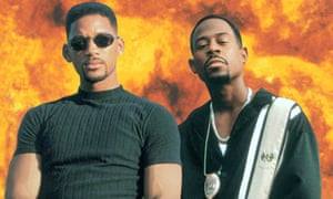 Will Smith and Martin Lawrence pose for Bad Boys