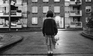 Girl in council estate